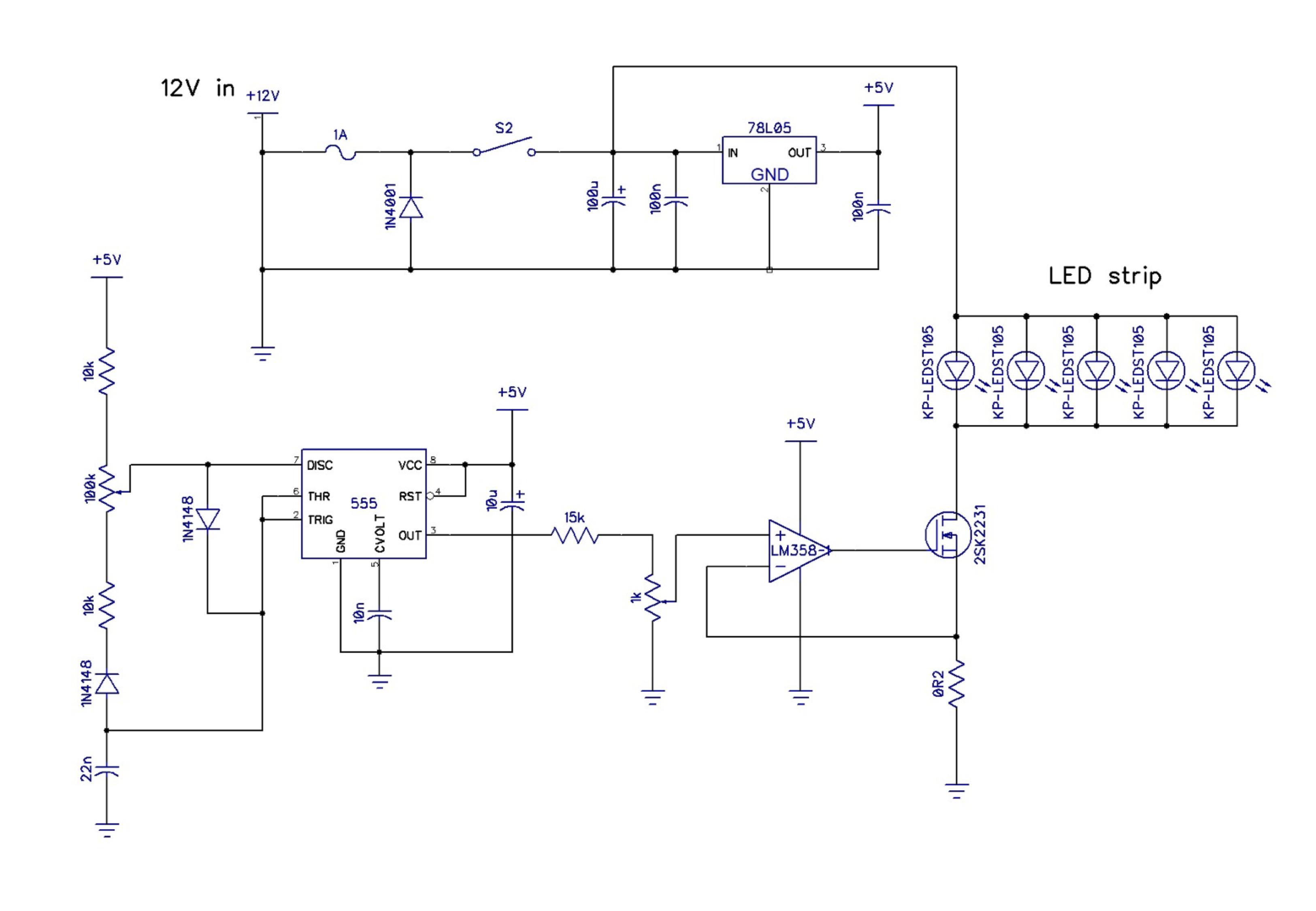 Led Workbench Light Momoyama Works Inverted 555 Timer Circuit Diagram