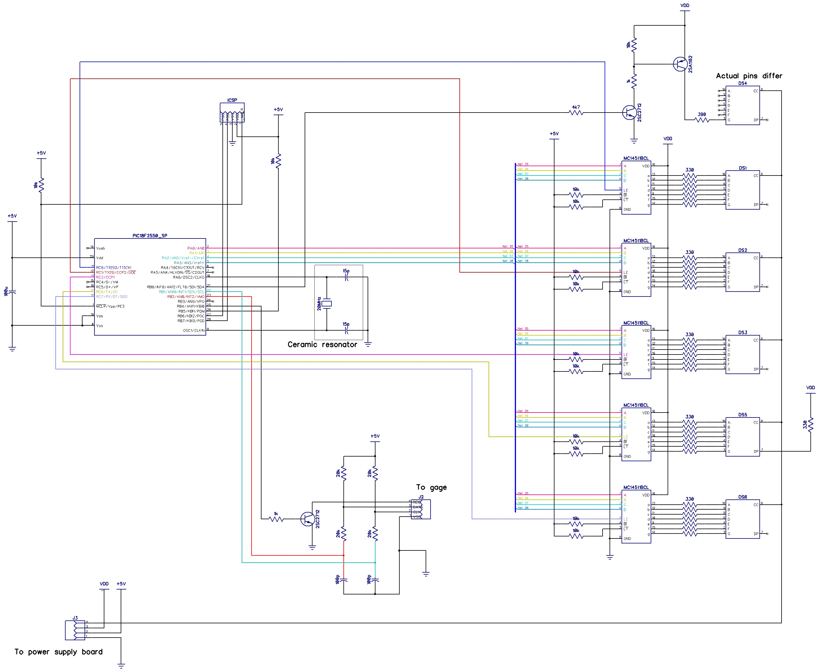 Readout board circuit diagram